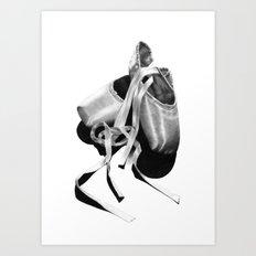 Ballet Dancer Shoes Art Print
