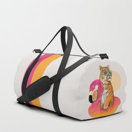 Chillin (Flamingo Tiger) Duffle Bag