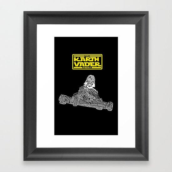 Kart Vader Framed Art Print