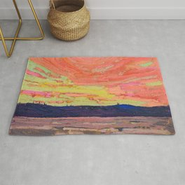 Tom Thomson - Sunset - Canada, Canadian Oil Painting - Group of Seven Rug