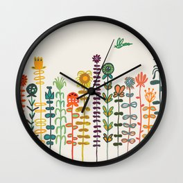 Happy garden Wall Clock