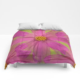 Endless Pink Cosmos Comforters