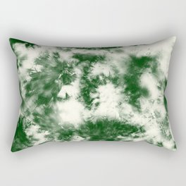 Green Tie Dye & Batik Rectangular Pillow