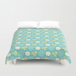 Hana - Yellow and Teal Duvet Cover