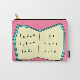 Words from a Colorful Book - inspirational quote illustration Carry-All Pouch