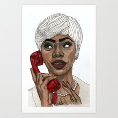 Girl with the Red Telephone Art Print