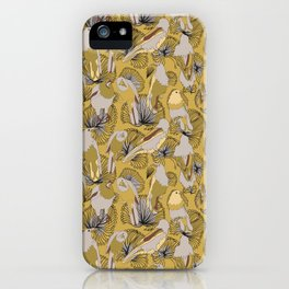 Birds of Prey in Yellow iPhone Case