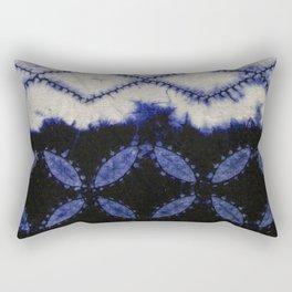 V42 Dark Blue Traditional Moroccan Texture Rectangular Pillow