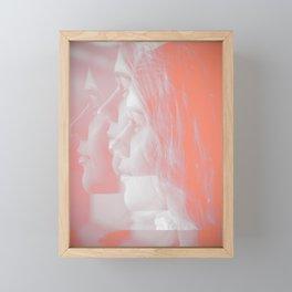 Red Woman Framed Mini Art Print