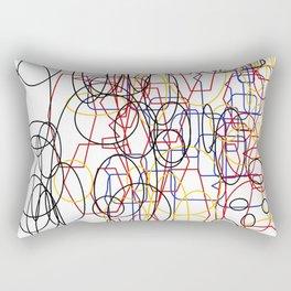 Geometric white ing Rectangular Pillow
