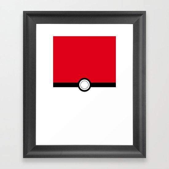 Pokeball Framed Art Print