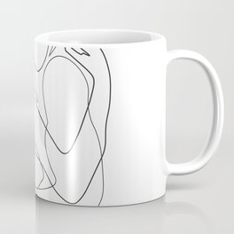 Lovers - Minimal Line Drawing Coffee Mug