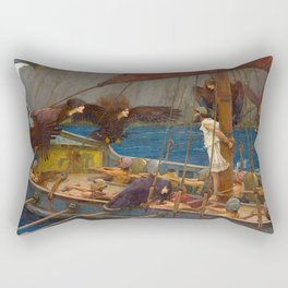 John William Waterhouse Ulysses and the Sirens 1891 Rectangular Pillow