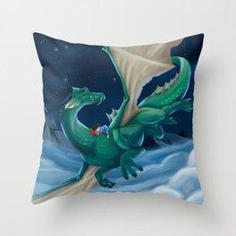 Boy and his Dragon Throw Pillow