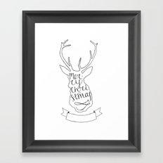 Merry Christmas Deer (1) Framed Art Print