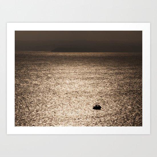 Out in the Metallic Sea Art Print