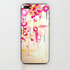 BALLOON LOVE Bubblegum POP! Beautiful Cheerful Bubbles Pretty Pink  Abstract Acrylic Painting Sky iPhone & iPod Skin
