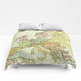 Vintage Map of Europe (1918) Comforters