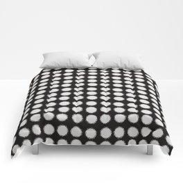 Milk Glass Polka Dots Black And White Comforters