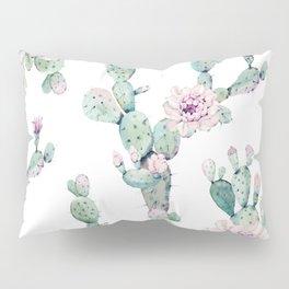 Arizona Desert Rose Cactus Pattern Pillow Sham