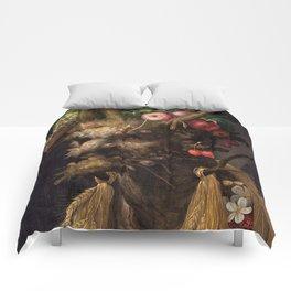 Four Seasons In One Head - Giuseppe Arcimboldo Comforters