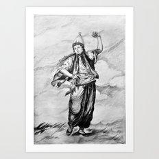 the old term female dancer Art Print