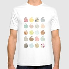 apples galore Mens Fitted Tee White MEDIUM