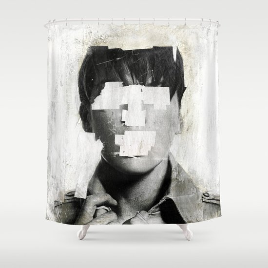 Faceless   number 02 Shower Curtain
