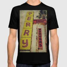 Perry's Vintage Sign Mens Fitted Tee Black MEDIUM