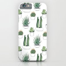watercolour cacti and succulent Slim Case iPhone 6