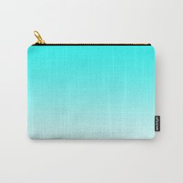 Aqua to White Ombre Carry-All Pouch