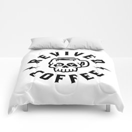 Revived By Coffee v2 Comforters