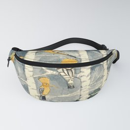 Hoopoes in the forest Fanny Pack
