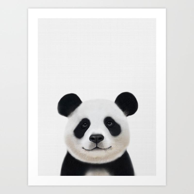 Panda Print Nursery Art