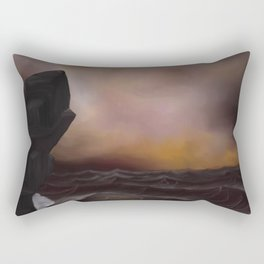 A Stormy Ocean Rectangular Pillow