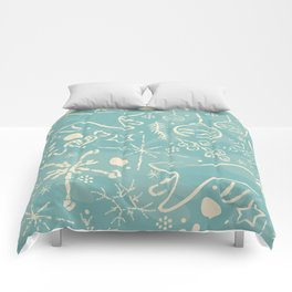 Design Inspired By Magical Times of Winter, the Time of True Peace, Joy and Happiness Comforters