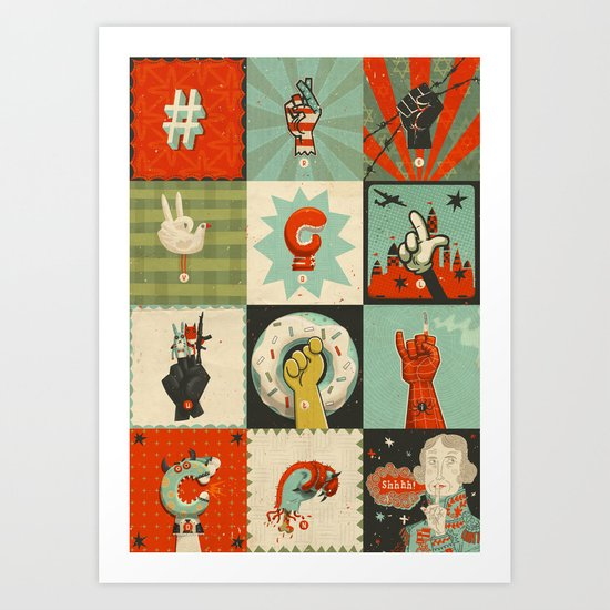 All the SIGNS of a REVOLUTION Art Print