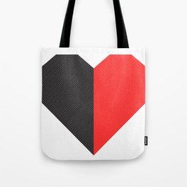 heart 50/50 Tote Bag