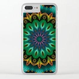 Blooming Mandala 04 Clear iPhone Case