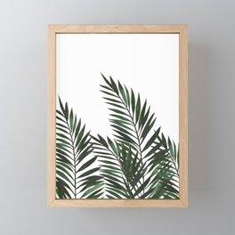 Palm Leaves Green Framed Mini Art Print