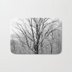 Maple Tree in Winter Bath Mat