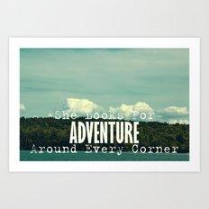 She Looks for Adventure  Art Print