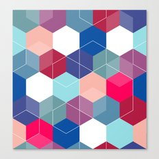 Hexies Canvas Print