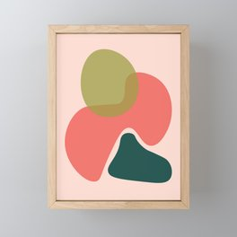 Living Coral Abstract 5 Framed Mini Art Print