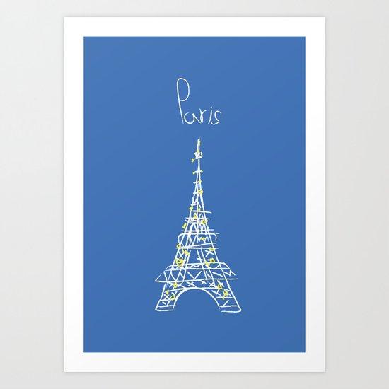 belle à Paris Art Print
