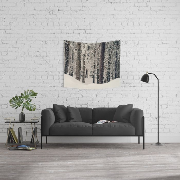 Winter Woods 1 Wall Tapestry