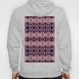 Diamond Geometric Power Pattern in Broad Spectrum Pink Hoody