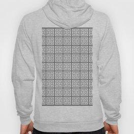 Gray Greek Key Pattern Hoody