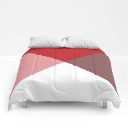 Geometric Red Comforters