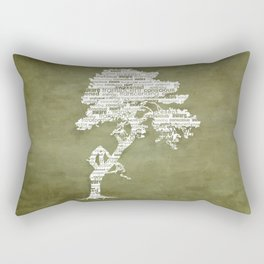 Bohdi Tree - White Rectangular Pillow
